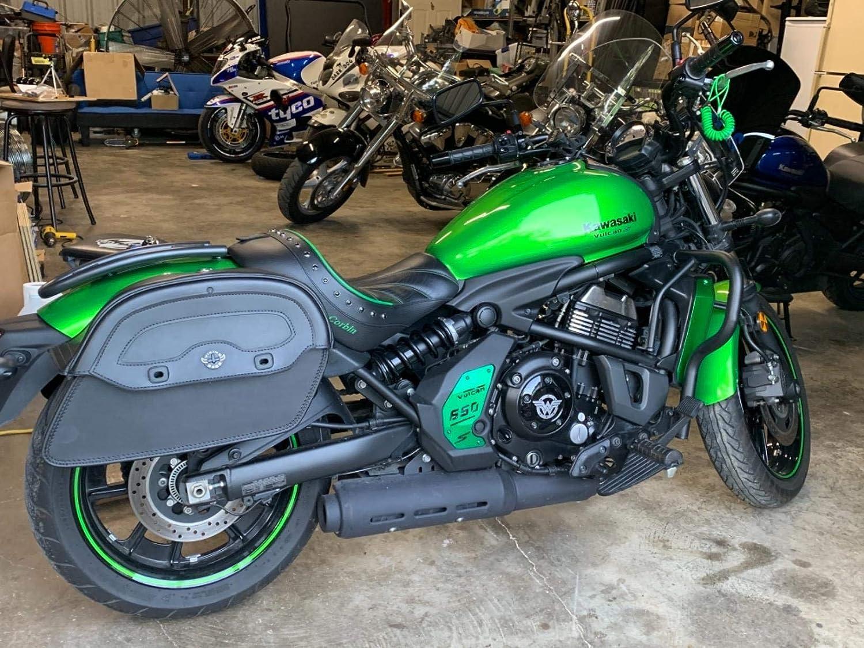 Motocicleta CNC Motor de decoraci/ón de aluminio cubierta lateral placa para 2015 2016 2017 2018 2019 Kawasaki Vulcan S ABS Vn en 650 en650 15-19