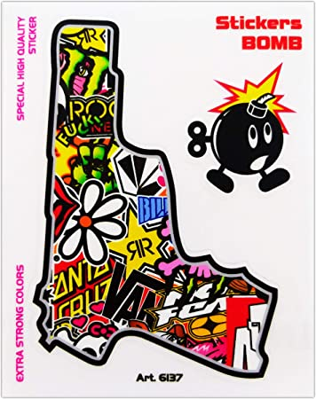 Sticker Bomb Gun 10 x 12 cm