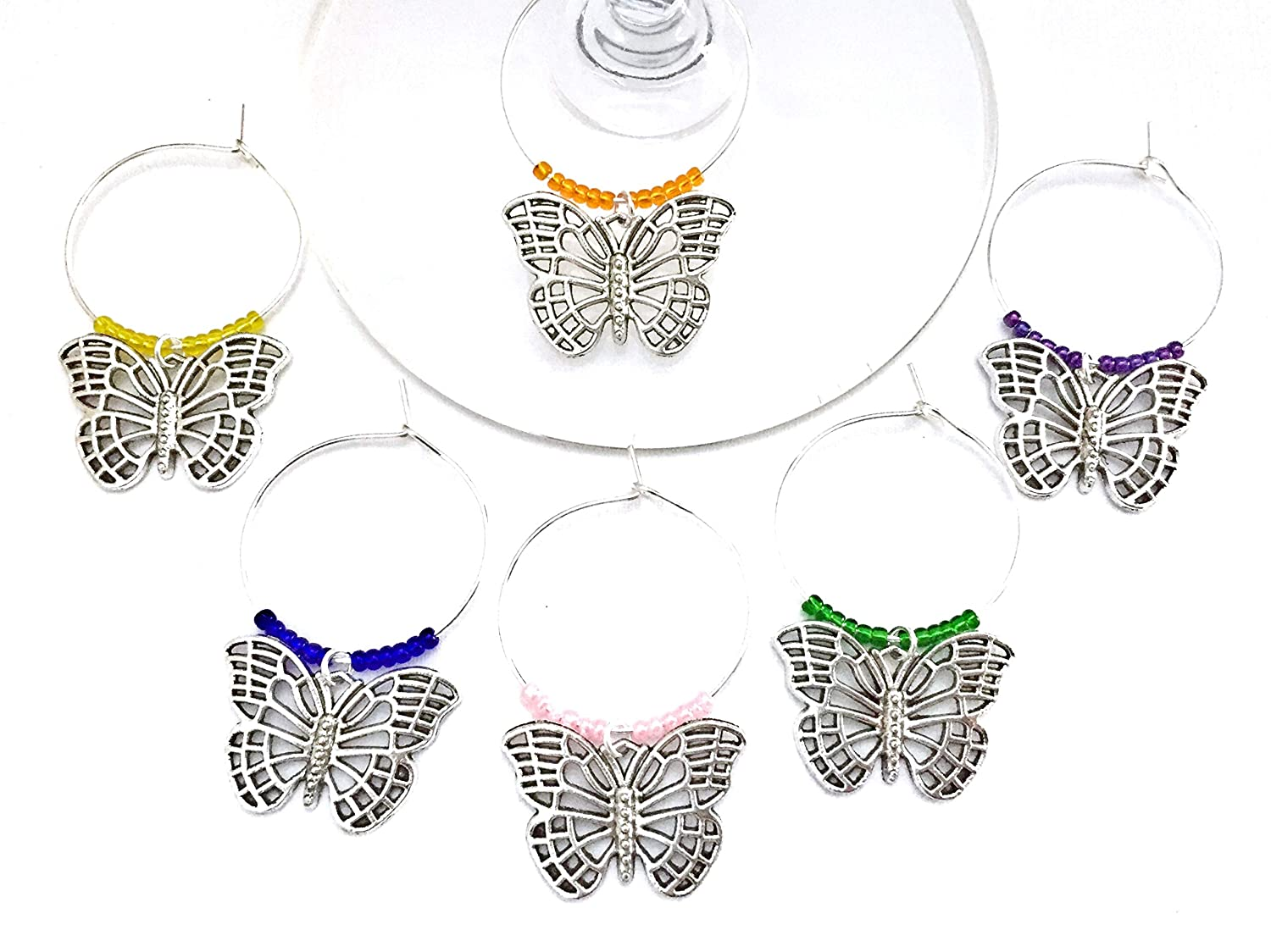Wine Charm Set Butterfly Collection