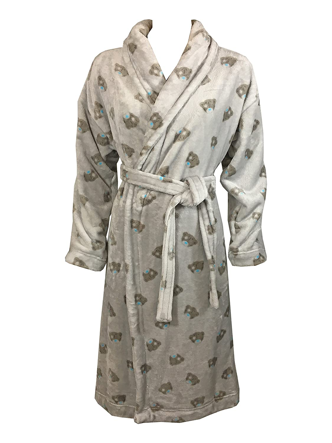 MARKS & SPENCER Ladies M&S Grey Tatty Teddy Dressing Gown Hooded ...