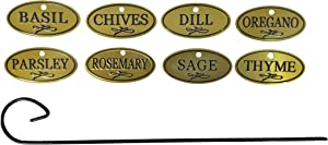 Bosmere H300 Brass Herb Tags with 10