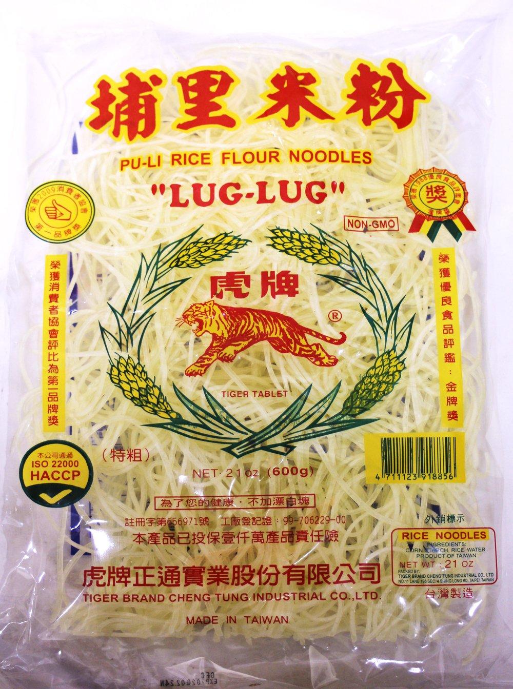 2 Packs Tiger Large Poolee Lug-lug Palabok Rice Flour Noodles 21 oz by Tiger
