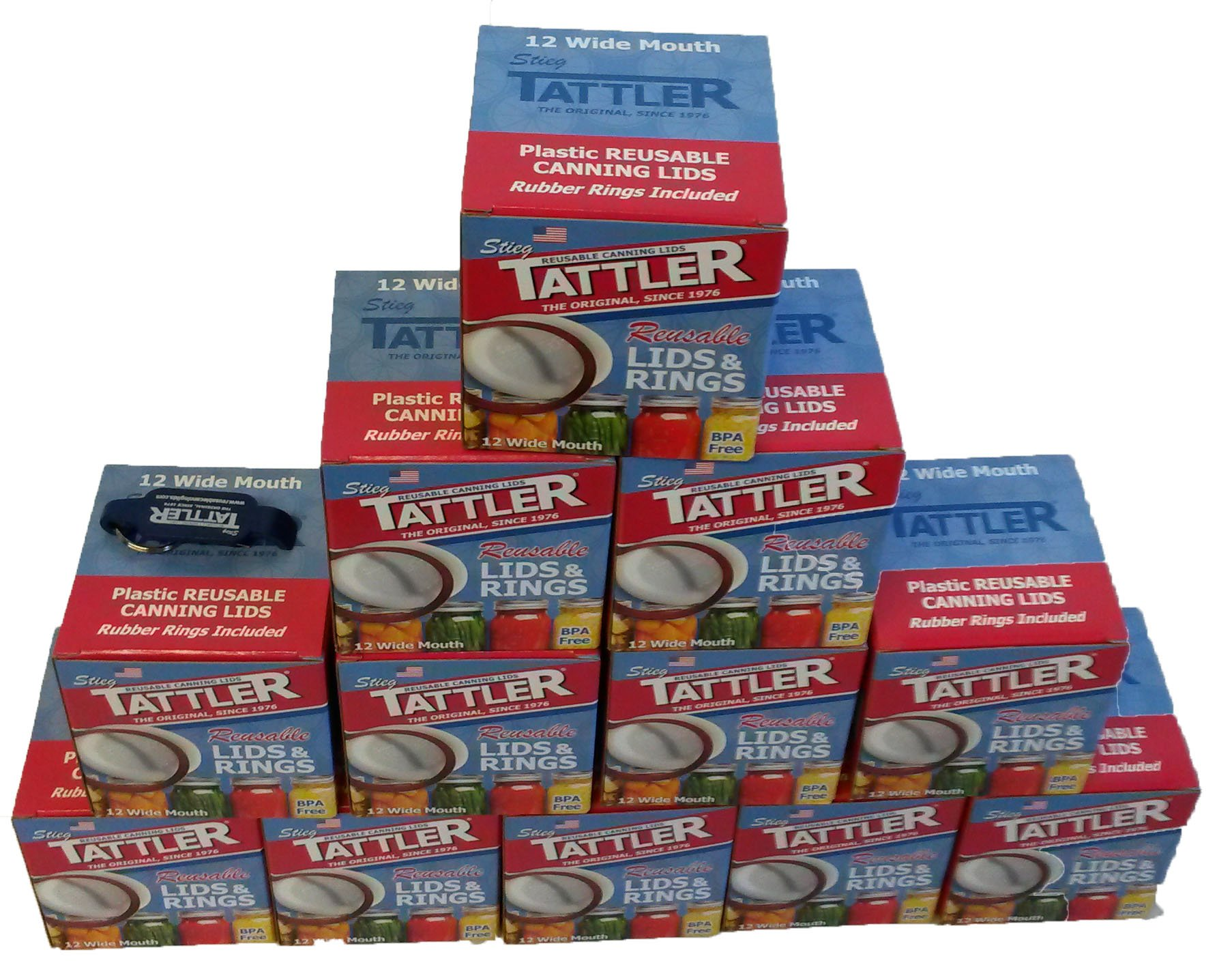 Tattler Reusable Wide Canning Lids and Rubber Rings 12 of 12 Pack by Tattler (Image #3)