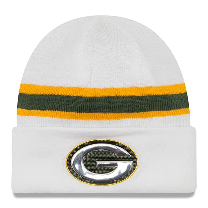 new arrival 760ef 92481 Green Bay Packers New Era White Color Rush On-field Knit Hat / Cap