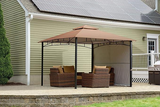ShelterLogic Canopy Series Redwood Cenador para Exteriores, fácil de Montar, protección UV, con toldo Extensible: Amazon.es: Jardín