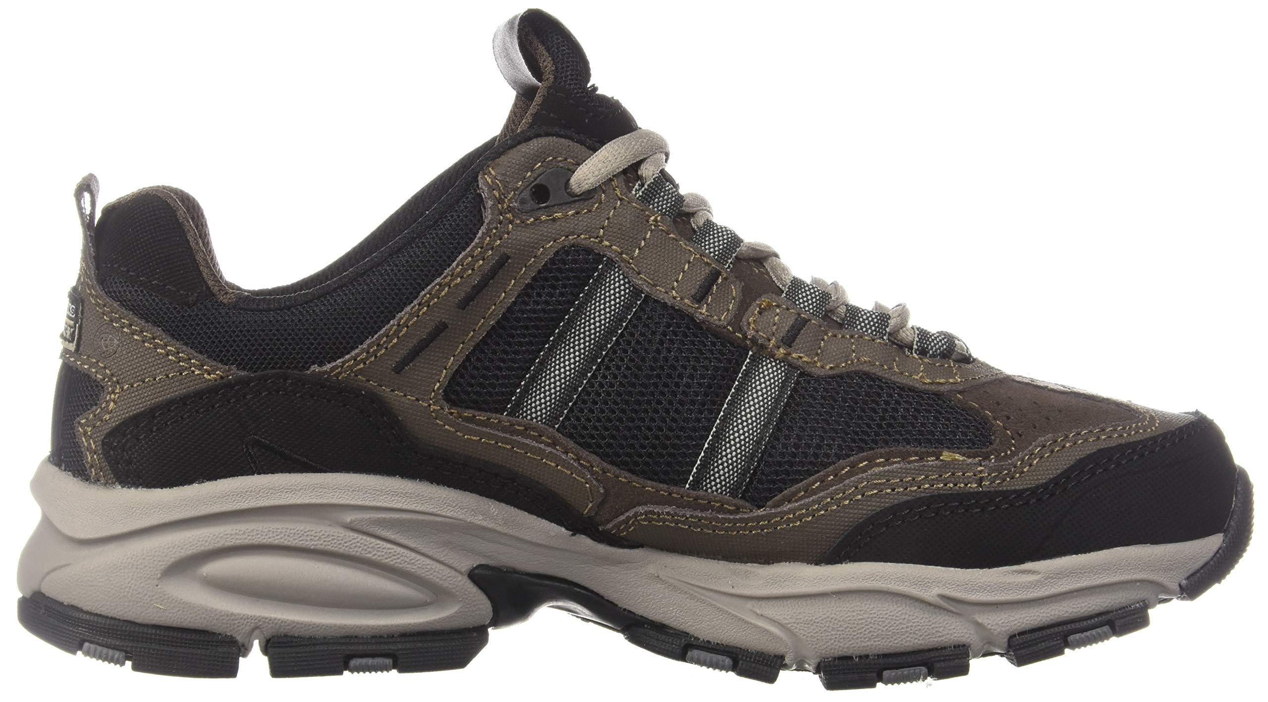 Skechers Sport Men's Vigor 2.0 Trait Memory Foam Sneaker, Brown/Black, 7 M US by Skechers (Image #7)