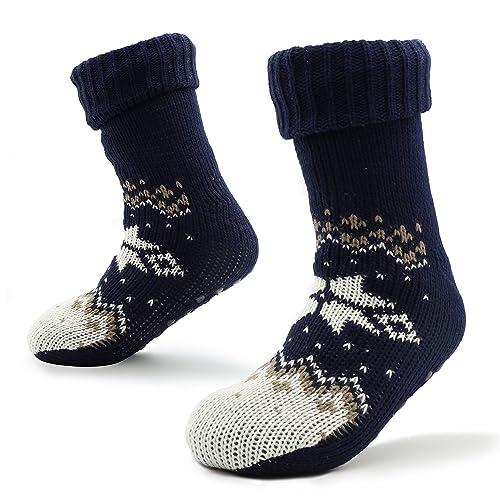 Calcetines Hombre Invierno Zapatillas de Estar por Casa con Revestimiento Interior en Piel 41-44