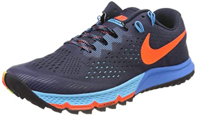 1b02d047d15 Nike Mens Air Zoom Terra Kiger 4 (Thunder Blue Blue Fury Armory Navy Total  Crimson) (12)