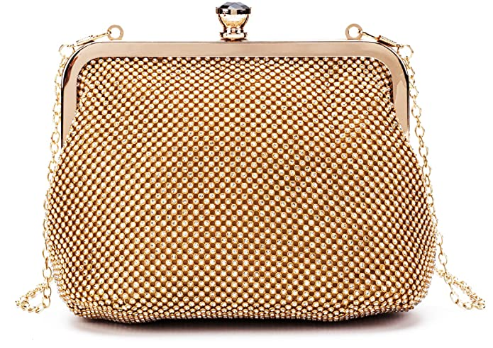 Vintage Handbags, Purses, Bags *New* Lola Mae Soft Bling Rhinestone Evening bag Metal Frame Shining Crystal Clutch Purse $22.98 AT vintagedancer.com