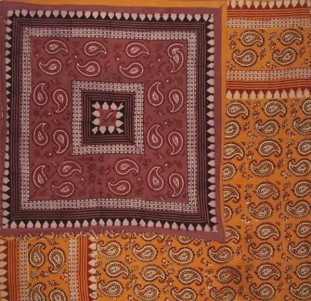 "Dabu Block Print Reversible Duvet Cover Cotton 106"" x 96"" Fits Queen-King Multi Color"