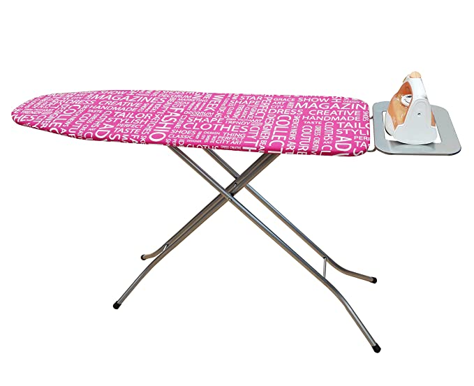 Uniware Turkey Ironing Board With Iron Rest, Large (Grid, 41 Inch) Colors may vary