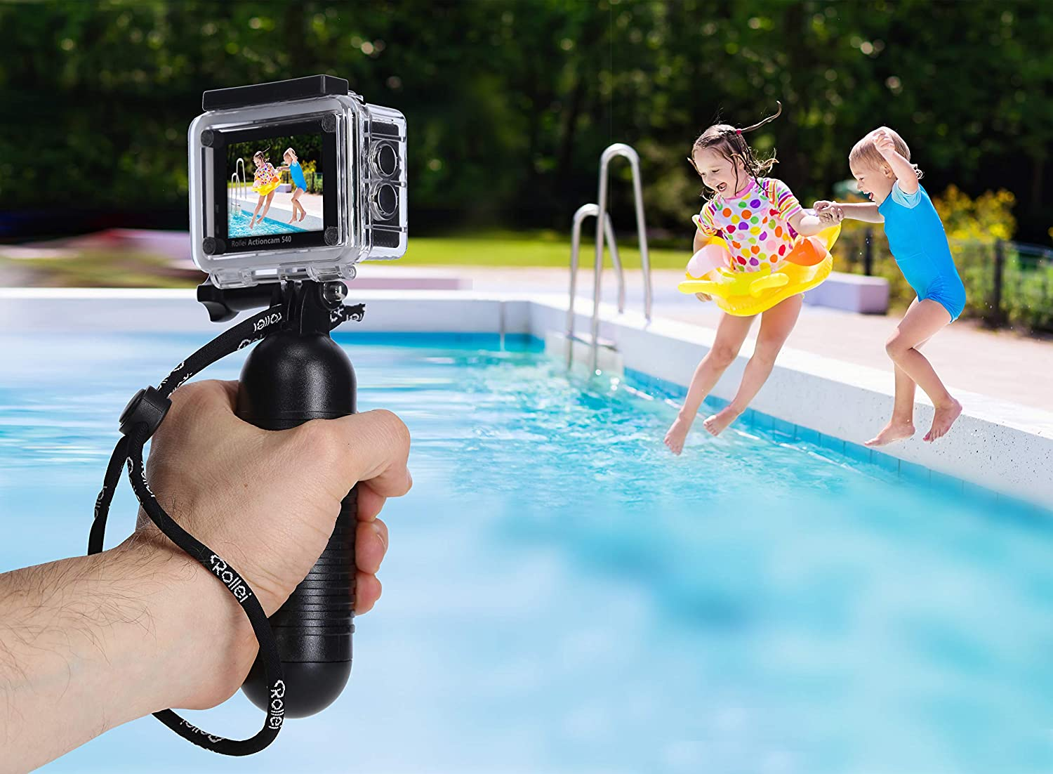 Rollei Actioncam 540 – WiFi Action CAM con Resolución de Vídeo 4 K y Gran Angular, hasta 40 m Impermeable, Incluye Unterwasserschutzgehäuse