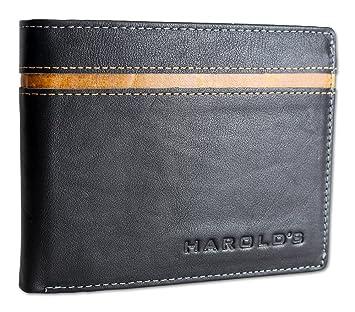 5ca0671b4cb94 HAROLD S Echt Leder Herren Geldbörse Querformat mit Riegel   ohne Riegel Portemonnaie  Brieftasche Geldbeutel Wallet Purse