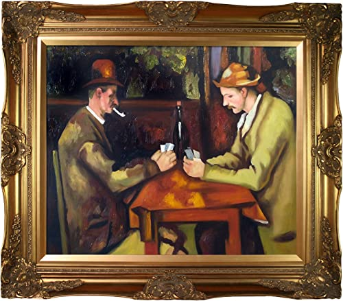 La Pastiche Card Players with Pipes Victorian Frame, 32 x 28 , Gold