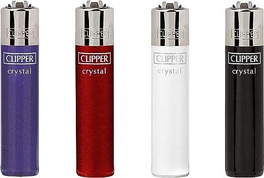 Clipper no 04, Crystal 4, Pack de 4 encendedores: Amazon.es: Hogar