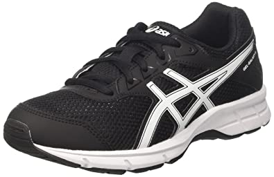 Asics Gel-Galaxy 9 GS Junior Running Shoes - Black/White - UK 4