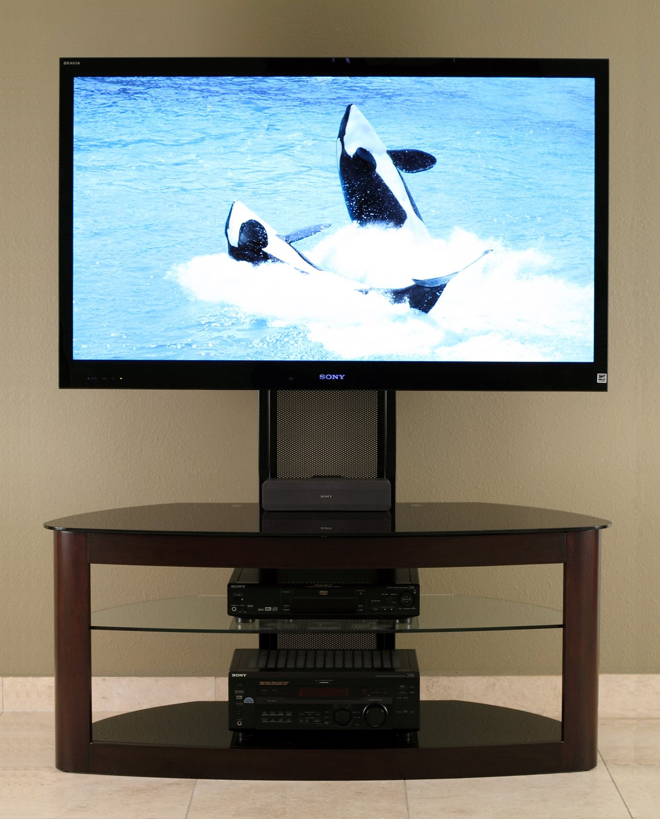 TransDeco TV Stand with Universal Mounting System for 35 to 65-Inch Plasma/LED/LCD TV by TransDeco (Image #2)
