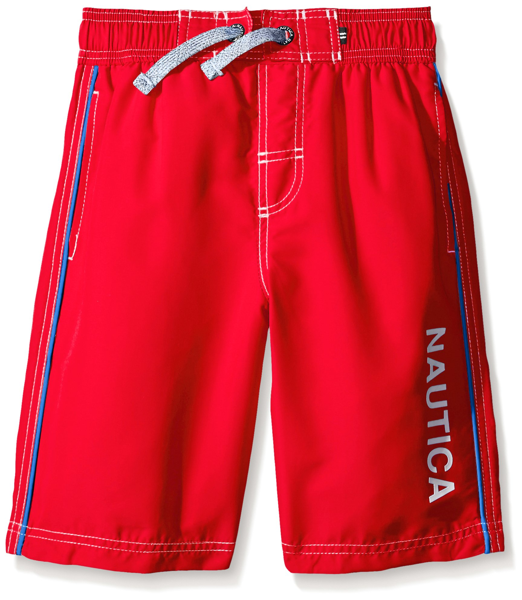 79104a1d34 Galleon - Nautica Little Boys Marled D-String With Side Piping Swim Trunk,  Carmine, Large/7
