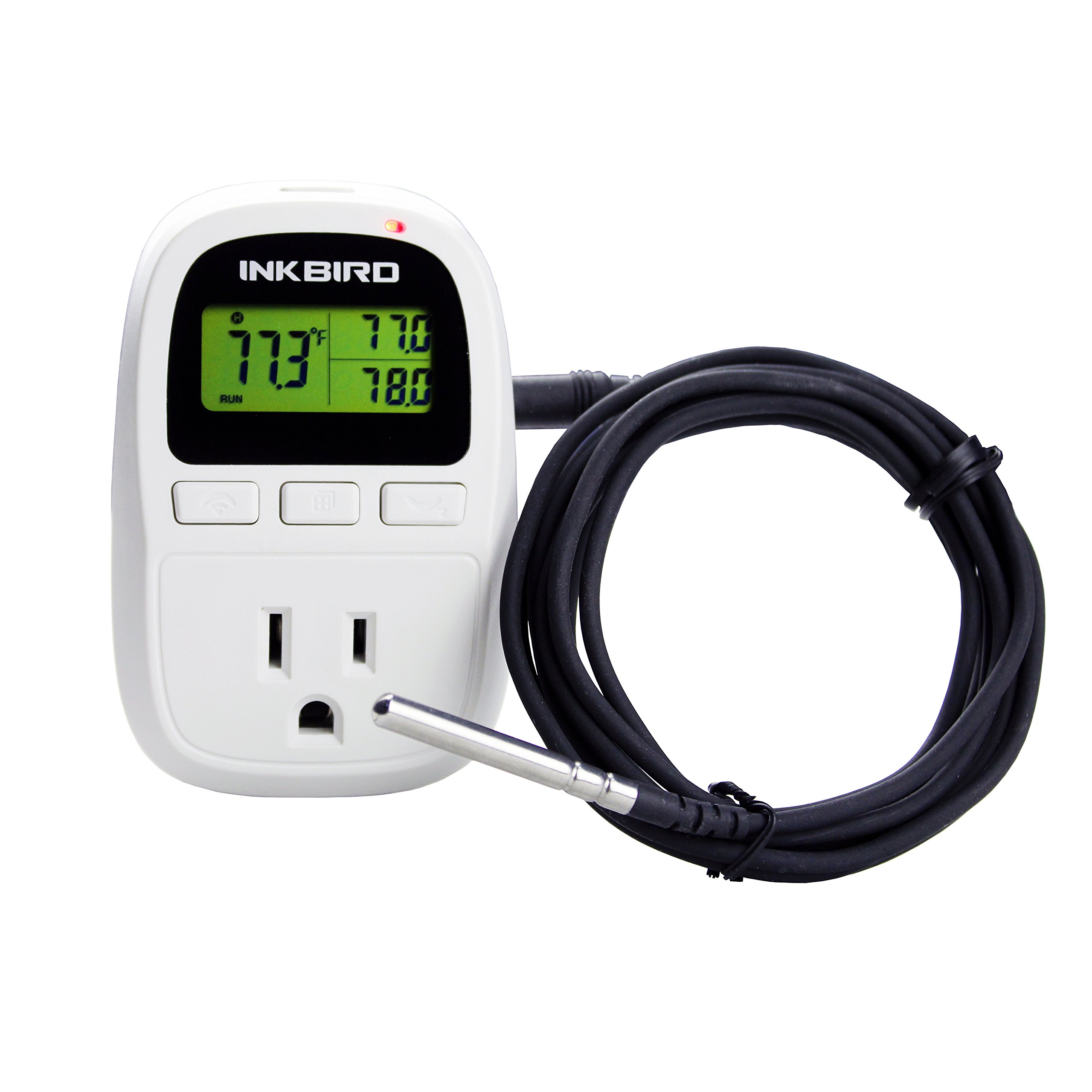 Inkbird Digital Heating or Cooling Temperature Controller, Humidity Thermostat and Timer c909 1500W (with Temperature Sensor)