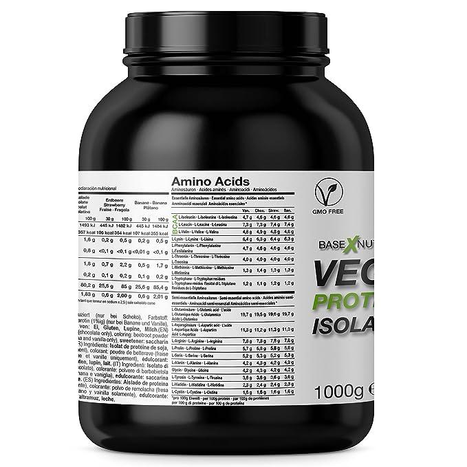 baseXnutrition, VEGAN Protein, proteínas vegetarianas la base ...