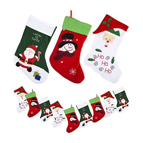 Paquete de 9 navidad medias (carta a Papá Noel, Ho Ho Ho ...