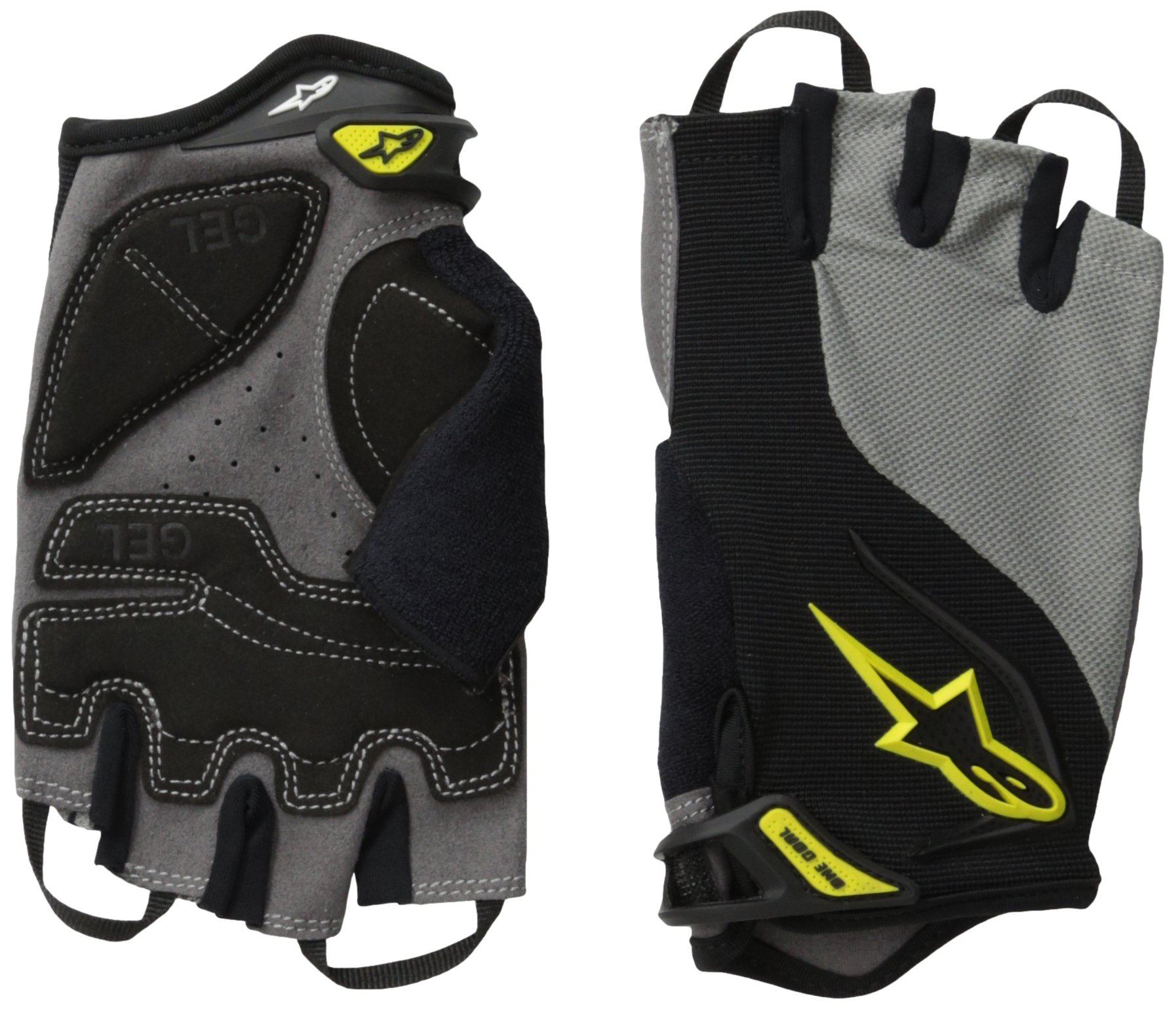 Alpinestars Pro-Light Short Finger Glove, X-Large, Black Gray Yellow