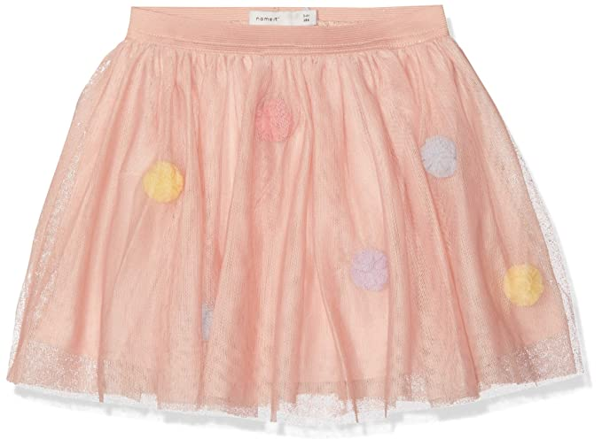 NAME IT Nmfpoppi Tulle Skirt LIC Falda, Rosa Strawberry Cream, 125 ...