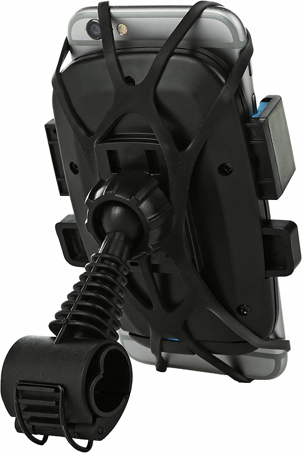 Shock Resistant Waterproof Cellphone Holder with 360/° Rotating Pivot Stand and Non Slip Rubber Cradle Universal Bike Phone Mount Bicycle Holder for Mobile Phones Android iPhone Samsung Smartphones
