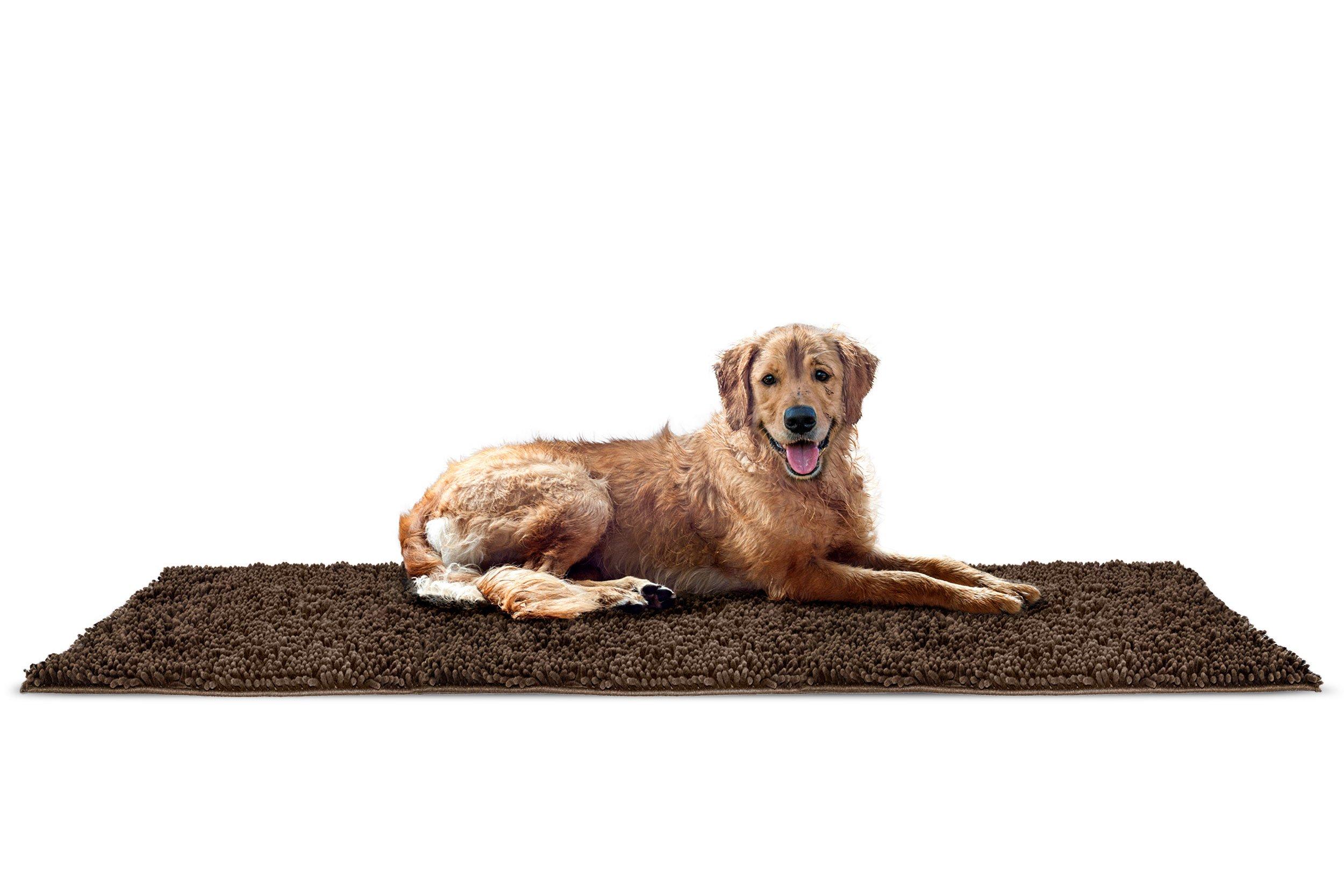 FurHaven Pet Dog Mat | Muddy Paws Towel & Shammy Rug, Mud (Brown), Runner