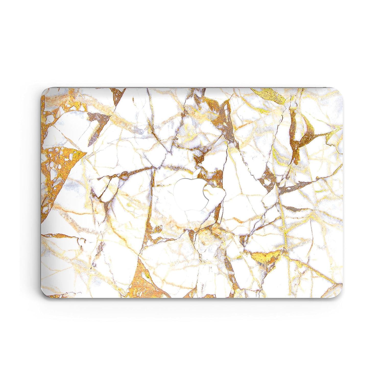goodmoodcasesプラスチックハードケースカバーfor MacBook 12インチ2015 – 2016 ( a1534 & mlhc2 ) with Retina Display – ホワイトゴールドKing大理石 B07227QVS9