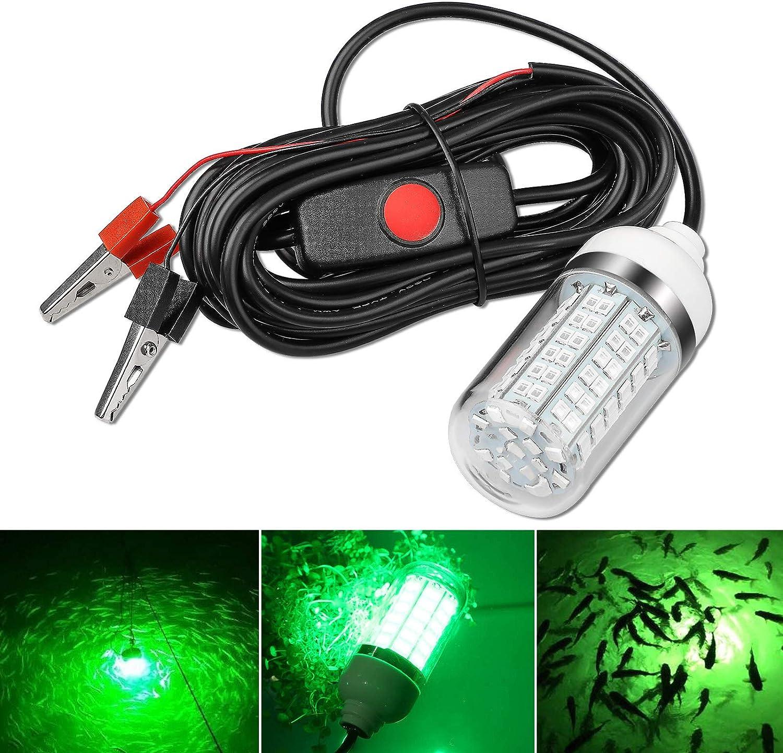LED Fishing Light Underwater Fishing Light Mini Waterproof Light Lure Deep Drop LED Light Night Fishing Light Sea for Dock