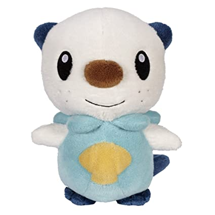 Pokemon Black And White Plush By Jakks - Reversible Pokeball Series 1 - Oshawott/Mijumaru