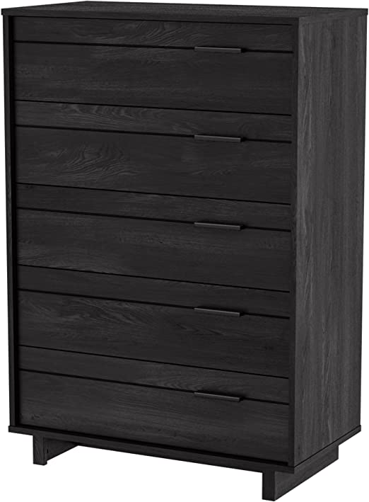 Amazon Com South Shore Fynn Collection 5 Drawer Chest Gray Oak Model 3237035 Furniture Decor
