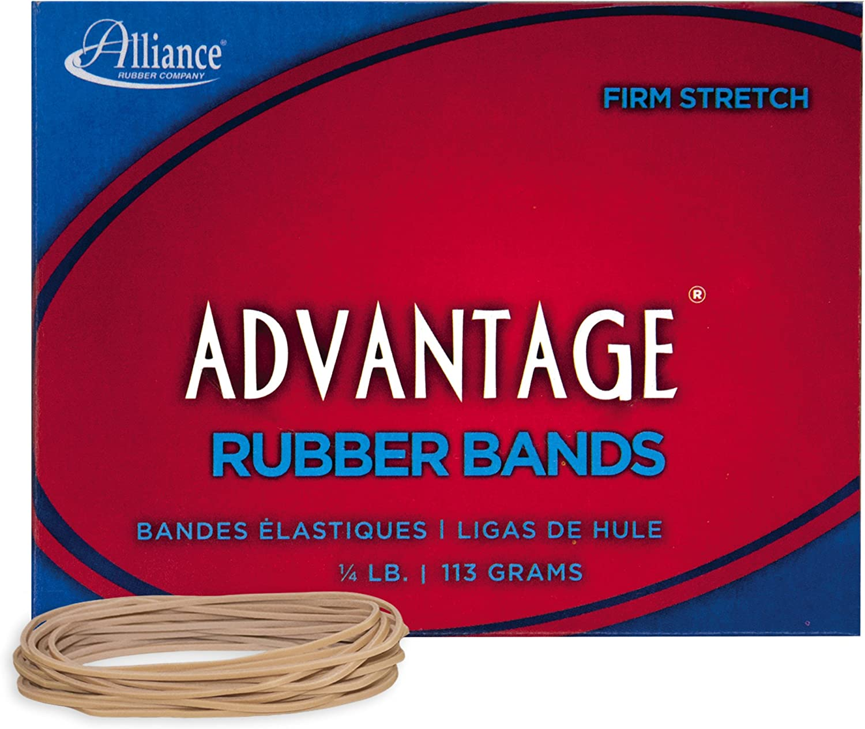"Alliance Rubber 26199 Advantage Rubber Bands Size #19, 1/4 lb Box Contains Approx. 312 Bands (3 1/2"" x 1/16"", Natural Crepe)"