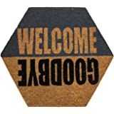 DiB TCO050-1000/514 Tapete de Entrada Coco Welcome Hexágono, 47x55 cm