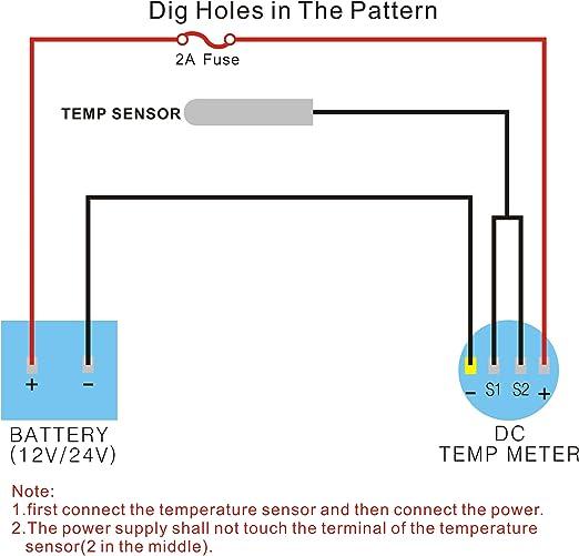 SCHWARZ ExcLent B3399 Mini OLED Display Thermometer Temperaturanzeige