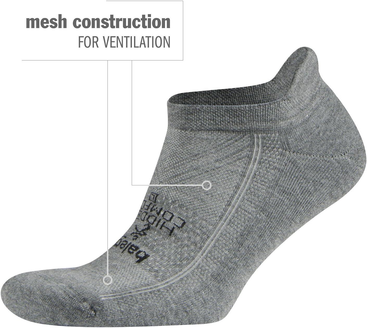 Balega Calcetines de running para hombre y mujer Gris gris oscuro M