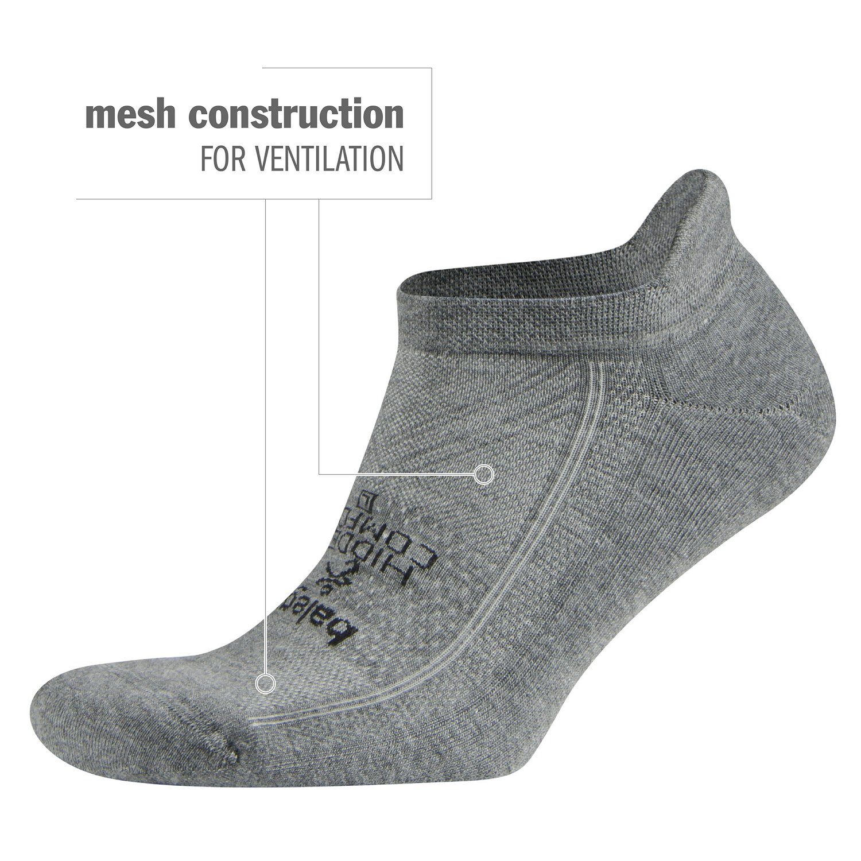 Balega Hidden Comfort No-Show Running Socks for Men and Women (1 Pair), Charcoal, Large by Balega (Image #6)