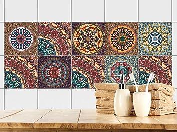 Wunderbar GRAZDesign 770351_15x15_FS10st Fliesenaufkleber Mandala Bunt | Fliesen Zum  überkleben Im Bad Und Küche | Braun