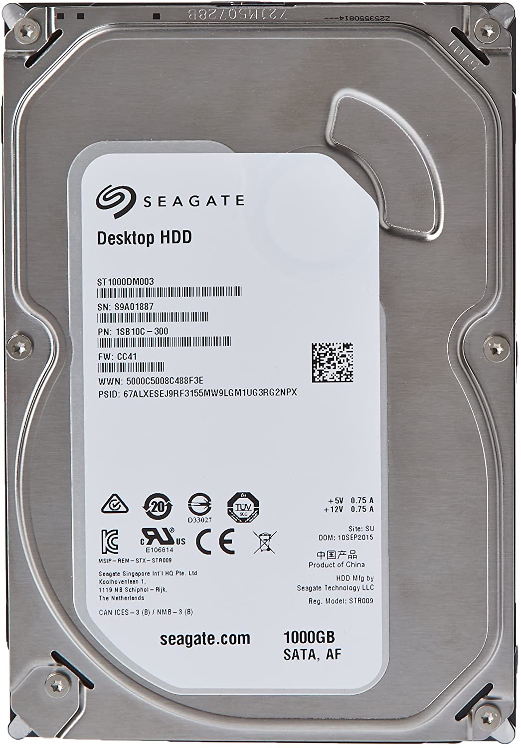 Seagate Barracuda Green 2TB SATA 6Gb//s 64MB Cache 3.5-Inch Internal Bare Drive