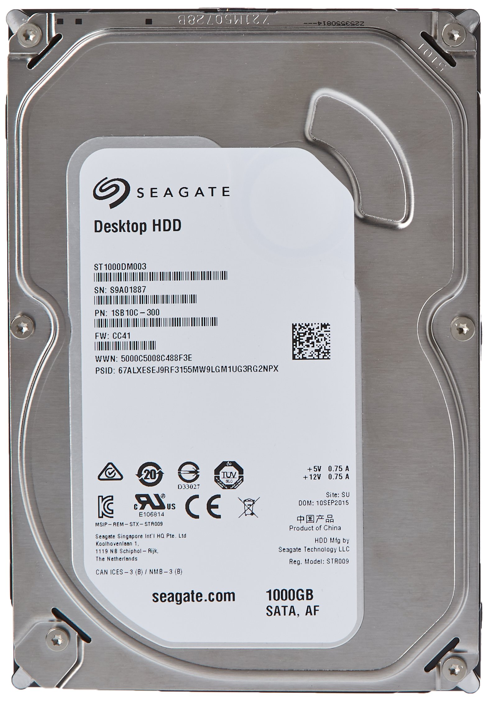 (Old Model) Seagate 1TB Desktop HDD SATA 6Gb/s 64MB Cache 3.5-Inch Intern... NEW 1