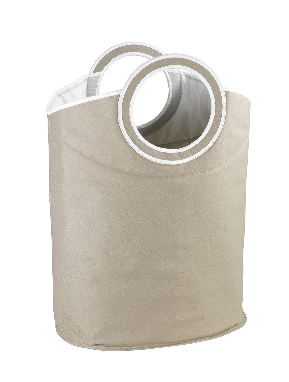 54 x 54 x 31 cm Cesto Porta Biancheria Donkey capacit/à 48 L plastica//Poliestere Beige Wenko 62072100
