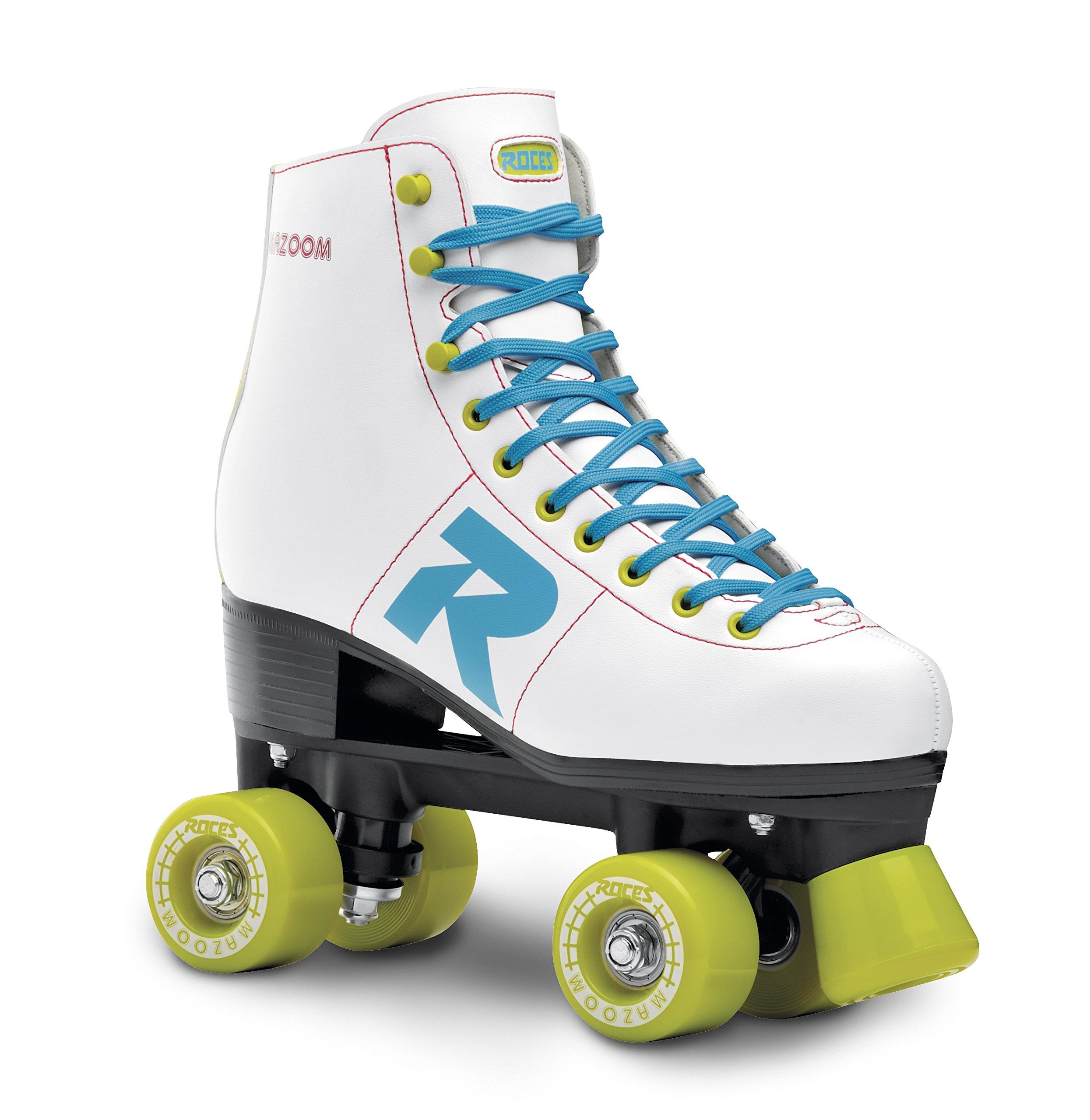 Roces 550064 Model Mazoom Roller Skate, US 3M/5W, White