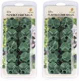 Etree 6 Way Flexible Cane Balls For Garden Fruit Cages and Netting Frames (20 balls)