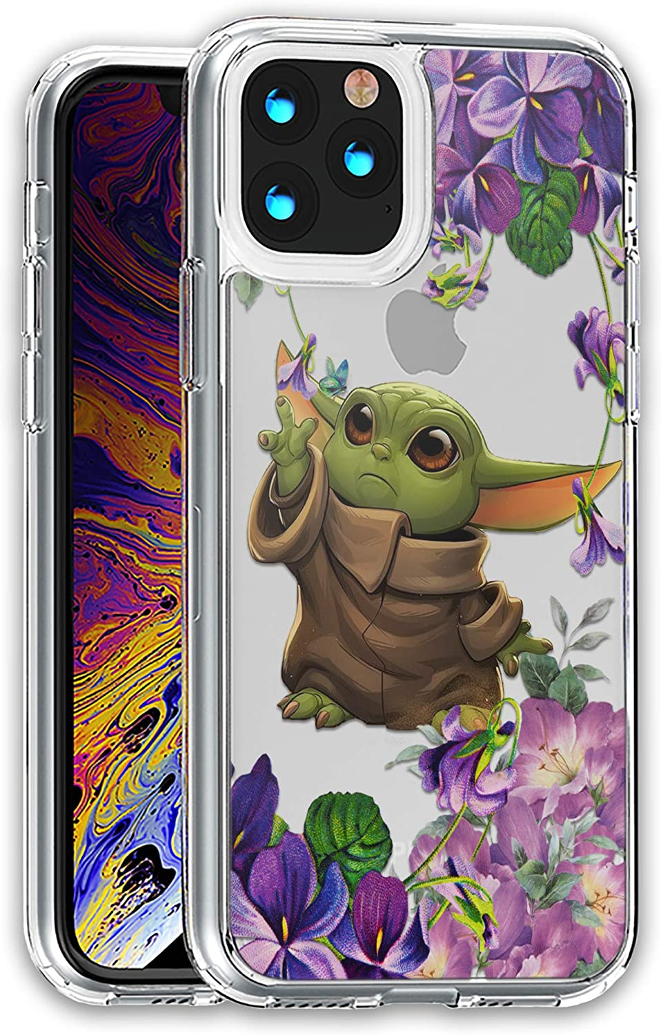 The Child Star Clear case Compatible with iPhone 12 Pro max Mini 11 Xr X 7 8 Plus SE Compatible with Galaxy s20 S20+ Ultra and Others Silicone Hybrid Cover SN 05 Wars (for Galaxy s8 Plus)