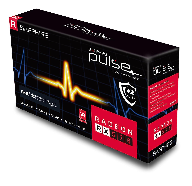 Amazon.com: Sapphire 11266 – 04 – 20 G Radeon Pulse RX 570 4 ...