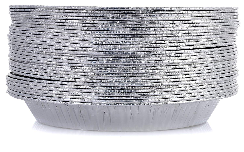 "DOBI 9"" Pie Pans [HEAVY DUTY] 30 Pack - American Made Disposable Aluminum Foil Pie Plates, Standard Size, 9"" x 1.25"""