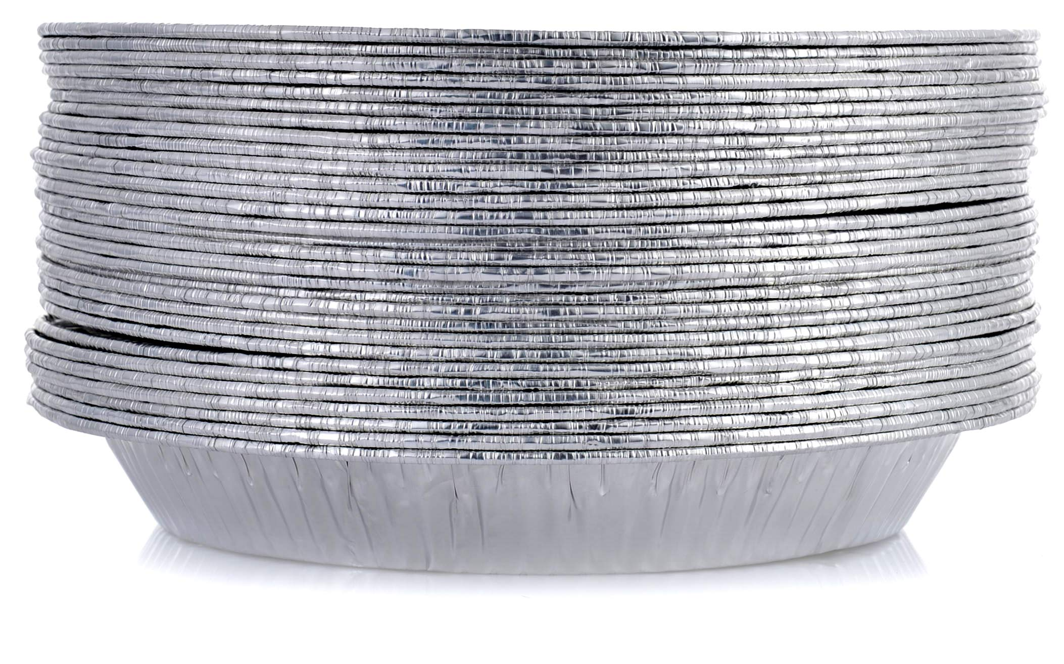 DOBI 9'' Pie Pans (30 Pack) - Disposable Aluminum Foil Pie Plates, Standard Size, 9'' x 1.25''