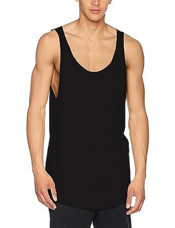 383a123cf5bf2 Urban Classic Men Overwear Tank Tops Long Shaped Open Edge Loose   Amazon.co.uk  Clothing
