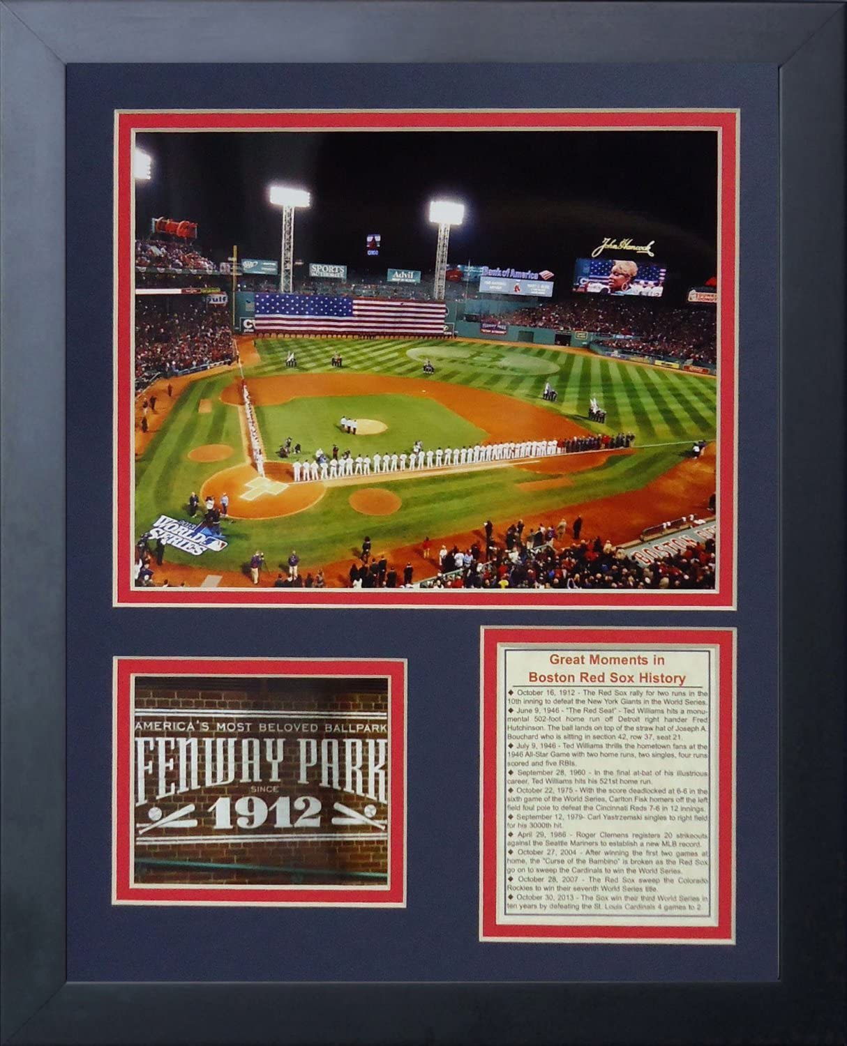 Legends Never Die Fenway Park 2013 World Series Framed Photo Collage 11 by 14-Inch